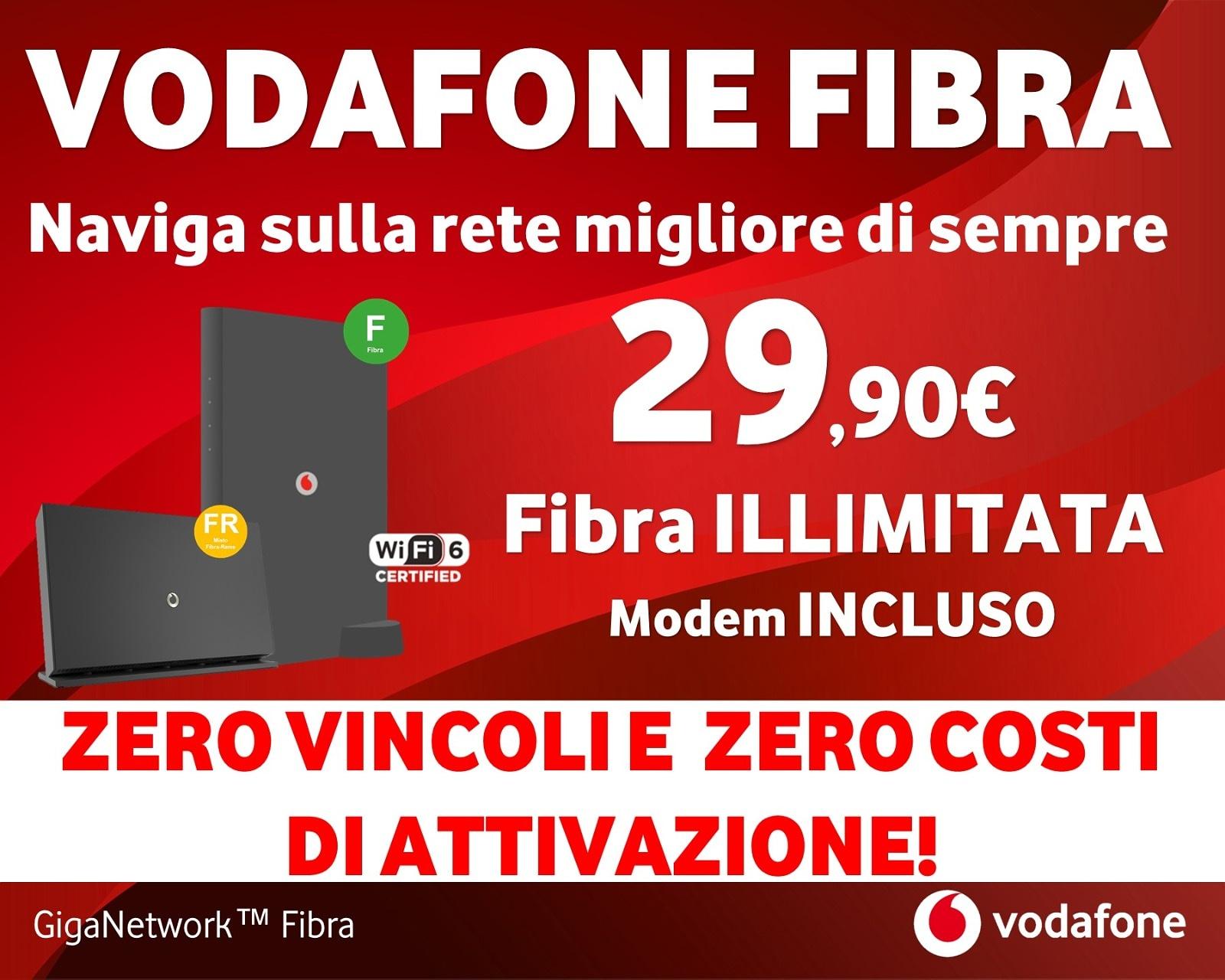 Fibra Vodafone 29.90 Euro